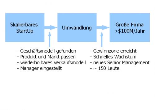 Skalierbares StartUp zu Grosser Firma