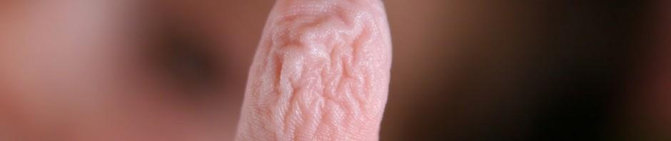 Schrumpliger Finger