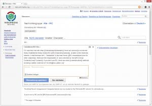 Übersetzen mit der MediaWiki Übersetzungserweiterung. MediaWiki Screenshot: Public Domain.