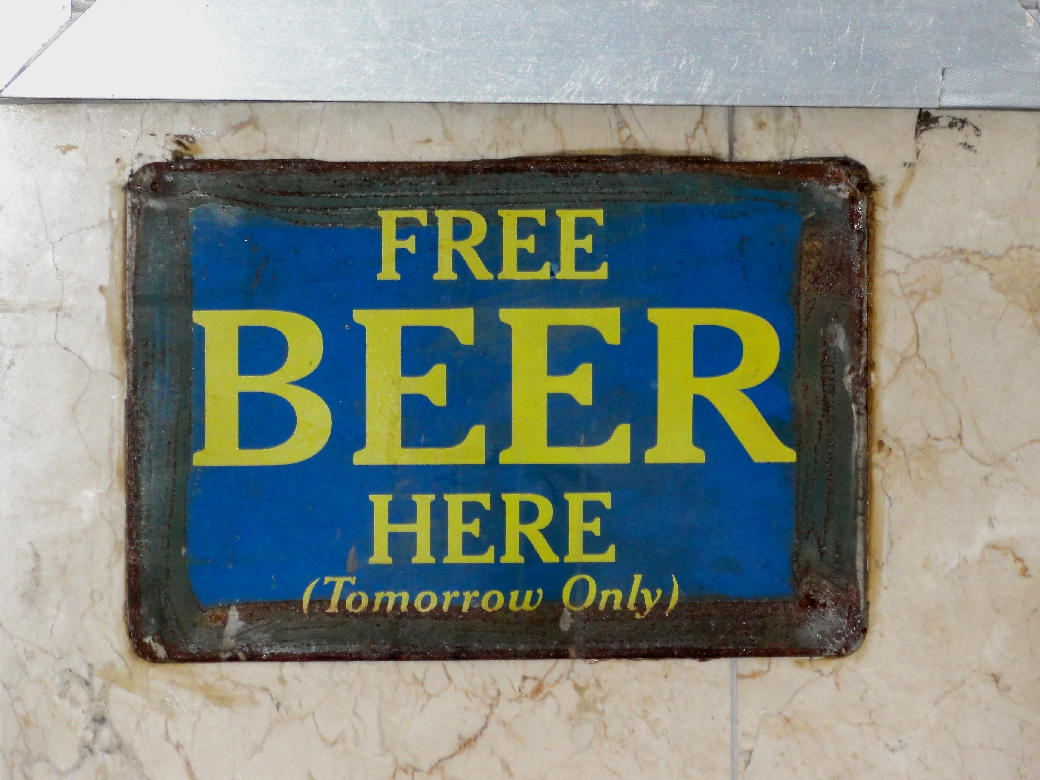 Free Beer. Foto: Tom Morris CC-BY-SA-3.0 via Wikimedia Commons