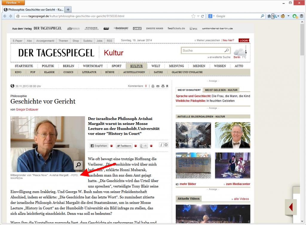 """""""Foto: Wikipedia"""" im Tagesspiegel. © Tagesspiegel"""