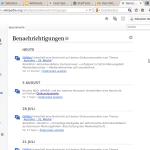 Bildschirmfoto MediaWiki-Benachrichtigungen. Foto: Sebastian Wallrot, gemeinfrei
