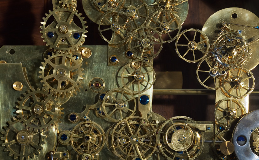 Vintage Franz Zajizek Astronomical Clock machinery. Foto: Jorge Royan, CC-BY-SA-3.0 via Wikimedia Commons