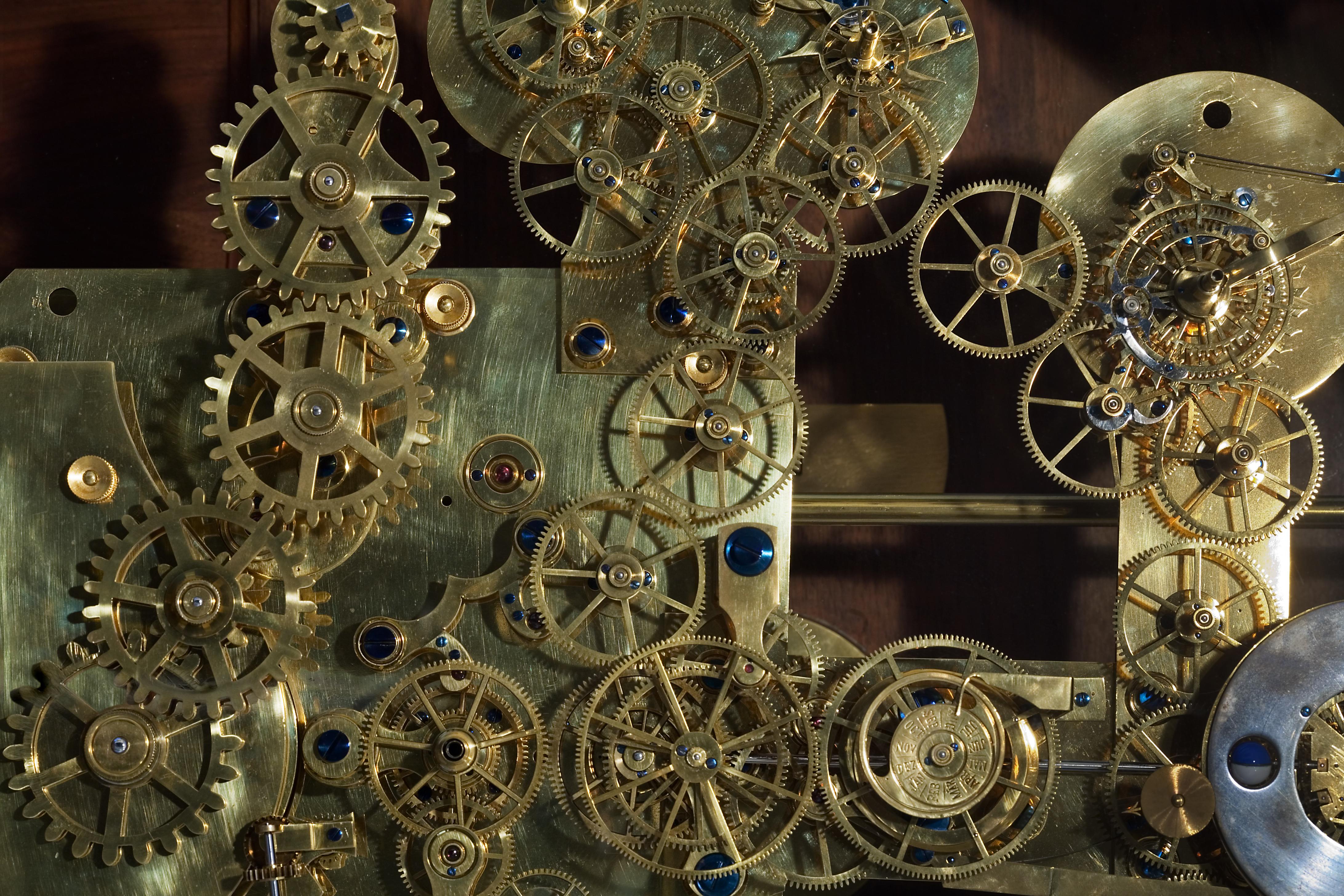 Vintage Franz Zajizek Astronomical Clock machinery. Foto: Jorge Royan, CC-BY-SA-3.0 via Wikimedia Commons