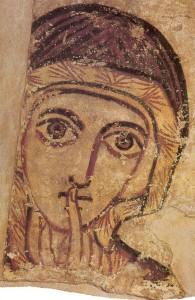 Fresco der heiligen Anna aus Farras (8. Jh. n. Chr.)